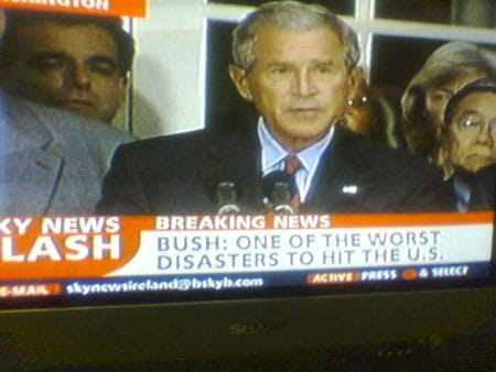 George Bush. Disaster.