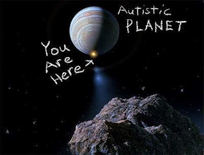 Autistic Planet t-shirt graphic