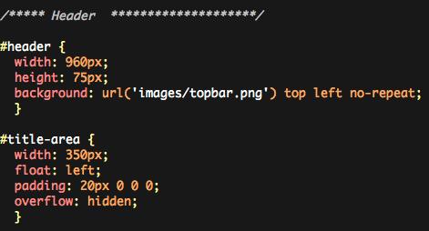 Komodo CSS sample